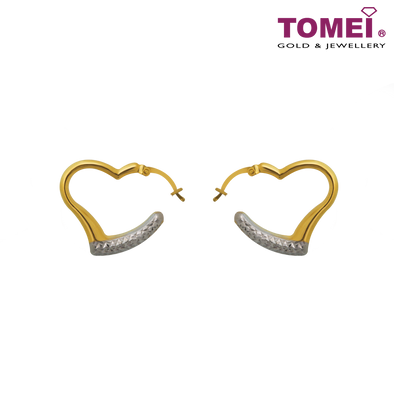 Loving Soulfully Earrings | Ooh La La Collection | Tomei Yellow Gold 916 (22K) (IQ-EPC161394-1-2C)