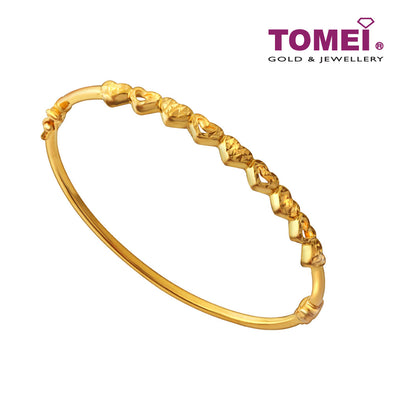 [Limited Stock]Adoring Hearts Bangle | Tomei Yellow Gold 916 (22K) (9L0120410)