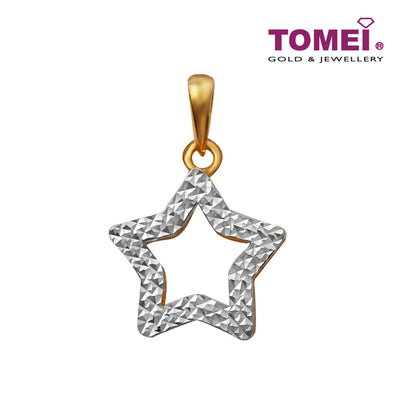 [Online Exclusive] Dual-Tone Bedazzle Glitzy Glam Pendant | Tomei Yellow Gold 916 (22K) (9P-DM-P6223-2C)