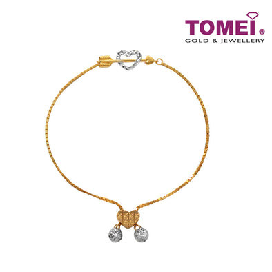 Dual-Tone Infiniti Cinta Adjustable Bracelet | Tomei Yellow Gold 916 (22K) (9M0412055)