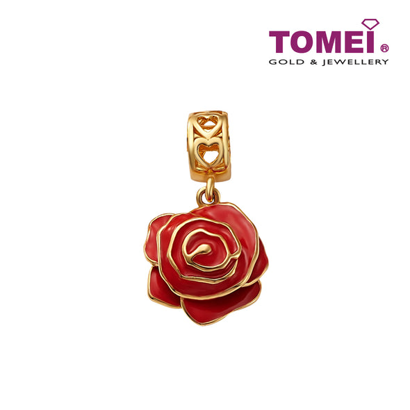 [Online Exclusive]Si Bunga Ros Charm | Tomei Yellow Gold 916 (22K) (TM-YG0714P-EC)