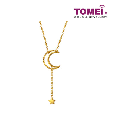 Moonlight Star Necklace | Tomei Yellow Gold 916 (22K) (AS-N0005-1C)