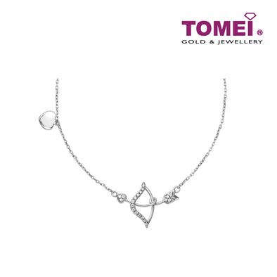 Pouty Lips with Kisses | Tomei White Gold 375 (9K) (B0960)