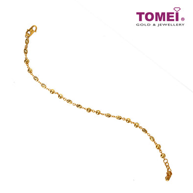 Spherical Motion in Linear Array Bracelet| Tomei Yellow Gold 916 (22K) (BB3108-C-1C)