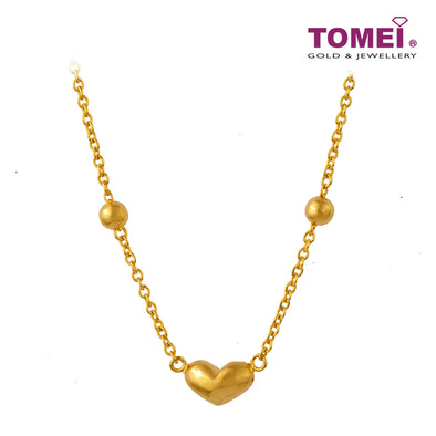 Lodestar of Love and Tenderness Necklace | Tomei Yellow Gold 916 (22K) (NN2953-1C)