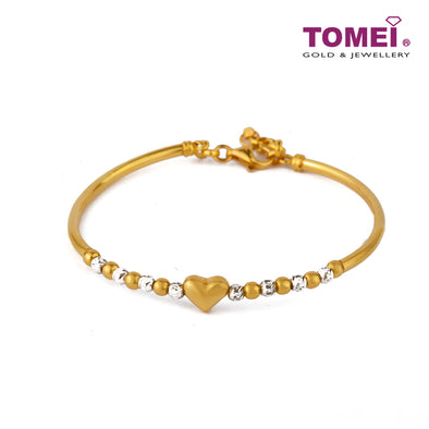 Éclat with Splendour Spherical Duo and Love in Linearity Bangle| Tomei Yellow Gold 916 (22K) (LB3205-2C)