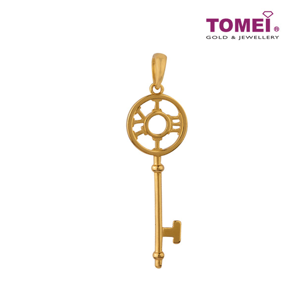 Unravel the Five Cycles to Fabulousness Key Pendant| Tomei Yellow Gold 916 (22K) (9P-YG0799P-1C)