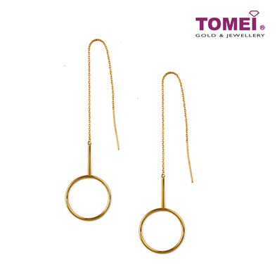 Simply Chic Circular Duo Earrings | Tomei Yellow Gold 916 (22K) (X3TE9770-1C )