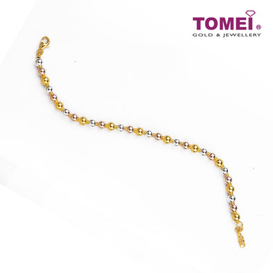 Spherical Trio in Linearity of Splendour Bracelet| Tomei Yellow Gold 916 (22K) (BB2910-C-3C)
