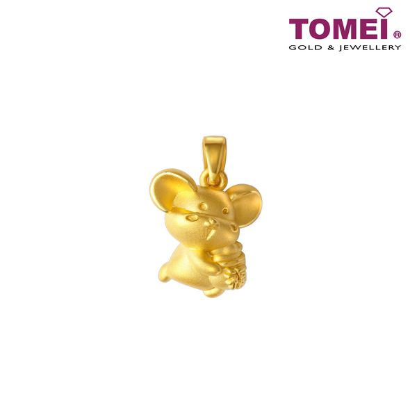 2020 Year of The Rat Blessing Lucky Bag Just For You Pendant | Tomei Yellow Gold 916 (22K) (9P-TMP001-1C)