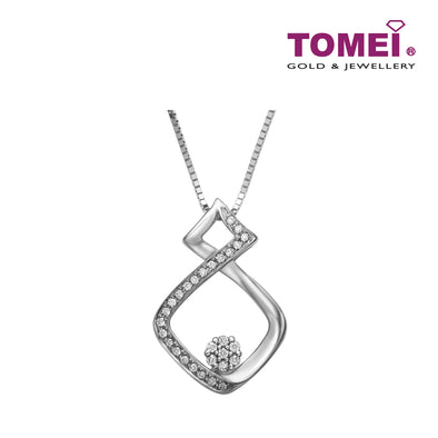 [Only Piece]Pendant Set | Tomei White Gold 375 (9K) (P3594)