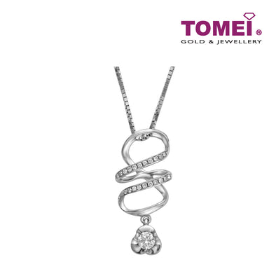 Pendant of Whimsically Winsome Sparkles Set | Tomei White Gold 375 (9K) (P4213)