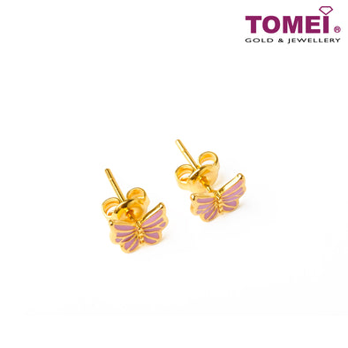 [Online Exclusive]Sweet Romance Butterfly Earrings & Bracelet | Tomei Yellow Gold 916 (22K) (9Q-YG1155E-TZ-YG1210B-EC)