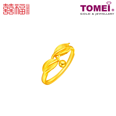 Tomei x Xifu Yellow Gold 999 (24K) Cherished Love Ring 珍爱•1 戒指 ( XF-SZZA-1-O)