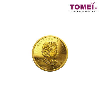 [Limited Stock] Tomei x Royal Canadian Mint Maplegram Maple Leaf Coin 1 gram  | Tomei 9999 Fine Gold (IPM-CA-MPG-1G-20)
