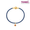[Online Exclusive] Wear Your Crown Chomel Charm | Tomei Yellow Gold 916 (22K) with Complimentary Navy Blue Bracelet (TM-YG0471P-EC)