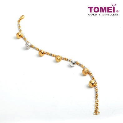 [Online Exclusive] Twofold Spherical Beauty in Motion Bracelet | Tomei Yellow Gold 916 (22K) (VX3DCBCB203453-II-TC)