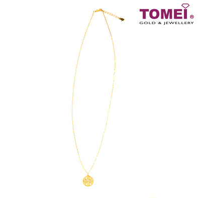 Fu Reimagined Minimalist Necklace | Tomei Yellow Gold 999 (24K) (BTN-5D-024)