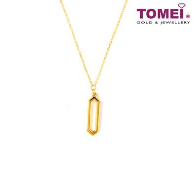 Elongated Hexagon Necklace | Tomei Yellow Gold 999 (24K) (BTN-5D-SET6)