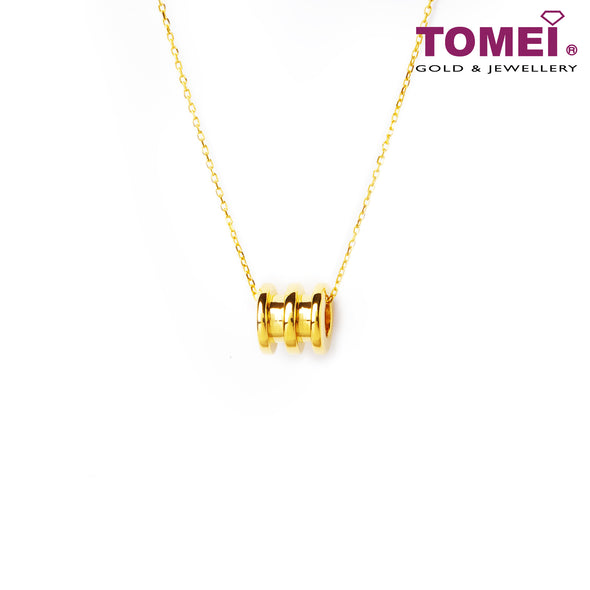 Love Lingers II Tube Minimalist Necklace | Tomei Yellow Gold 999 (24K) (BTN-5D-013)