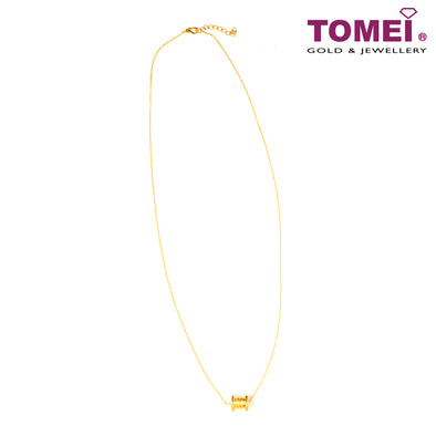 Love Lingers III Tube Minimalist Necklace| Tomei Yellow Gold 999 (24K) (BTN-5D-017)