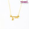 Weight of Love Minimalist Necklace | Tomei Yellow Gold 999 (24K) (BTN-5D-004)