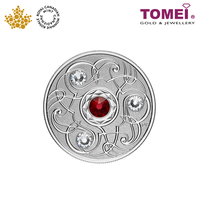 "Tomei x Royal Canadian Mint Silver 9999 ""2020 January Birthstone with Swarovski® Crystals"" Numismatic Coin (164206)"