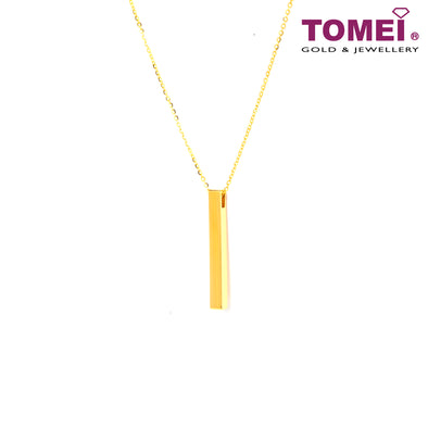 Bar Necklace | Tomei Yellow Gold 999 (24K) (BTN-5D-022)