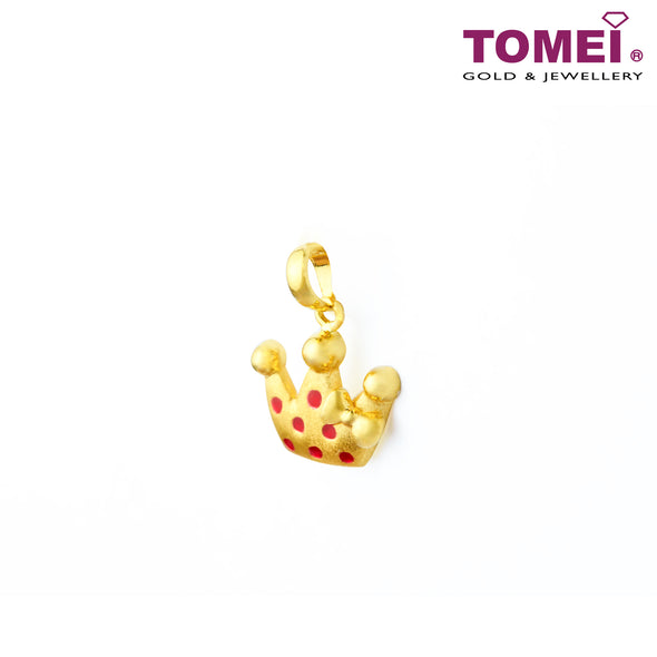 Vibrantly Playful Crown Pendant | Tomei Yellow Gold 916 (22K) (PP2812-EC)