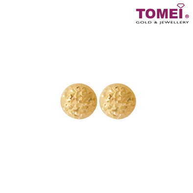 Cube Dual-Tone Stud Earrings | Tomei Yellow Gold 916 (22K) (X3DCNSE7908-1C)