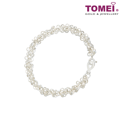 [Online Exclusive] Frosty Faith Tri-Ring Bracelet | 18 cm | Tomei Sterling Silver 925 (SB87880)