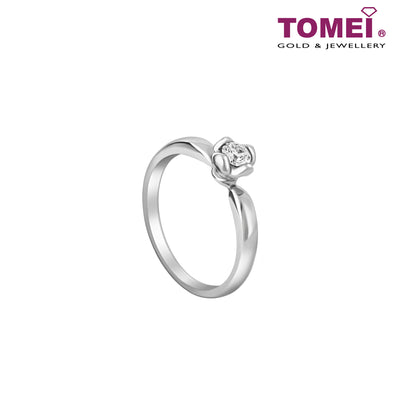 Solitaire Ring | Tomei 375 (9K) White Gold (R3182)
