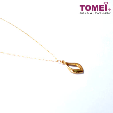 Kiss of Dewdrop Necklace | Tomei Yellow Gold 999 (24K) (BTN-5D-030)
