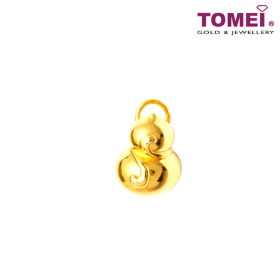 [Online Exclusive] Fat Fat Baby Wu Lou Gourd Transmuter Pendant | Tomei Yellow Gold 999 (24K) with Complimentary Rope Necklace (BTP-5D-HL)