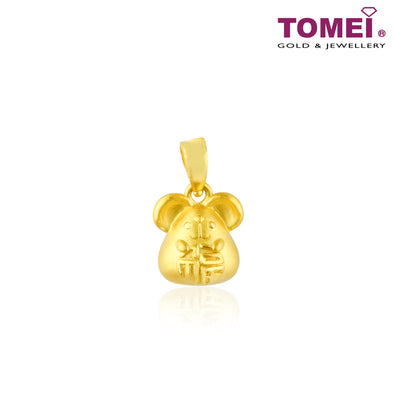 Fu Mouse Pendant | Tomei Yellow Gold 999 (24K) (BTP-RAT-FZ)