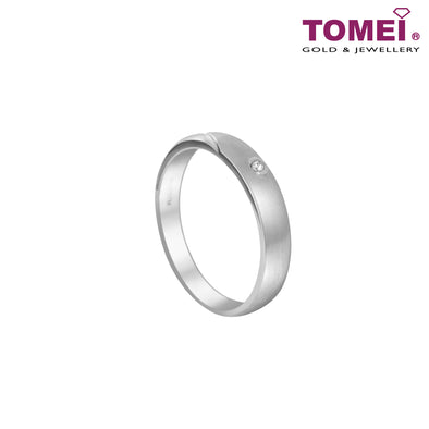 I Am Loving You Couple Diamond Rings | Tomei 375 (9K) White Gold (SOU-R4139-R4141)