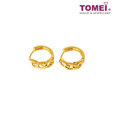 Trio Love Knot Hoop Earrings | Tomei Yellow Gold 916 (22K) (XXNHUE1955-DC-II-1C)