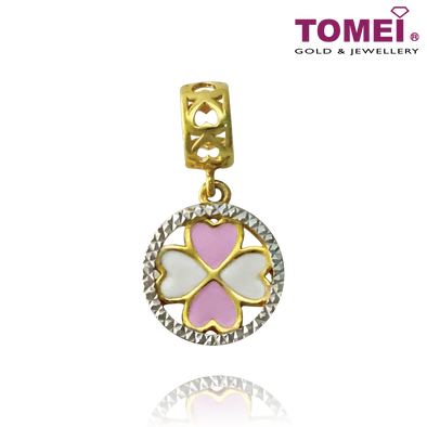 Wreath of Love Charm | Colors of Memories | Tomei Yellow Gold 916 (22K) (TM-YG0654P-EC)