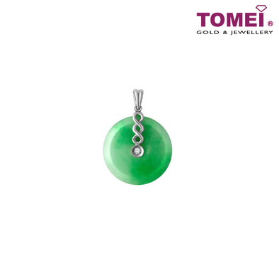 [Online Exclusive][Only Piece] Everlasting Wellbeing Jade Wu Lou Pendant | Tomei White Gold 750 (18K) (JP0007311)