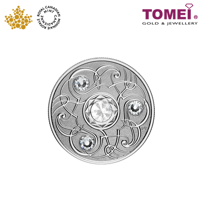 "Tomei x Royal Canadian Mint Silver 9999 ""2020 June Birthstone with Swarovski® Crystals"" Numismatic Coin (164351)"