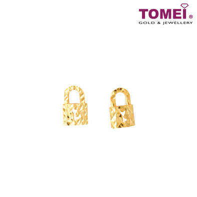 Love Lock Tesoro Mio Italy Earrings | Tomei Yellow Gold 916 (22K) (IQ-112-TME057-1C)