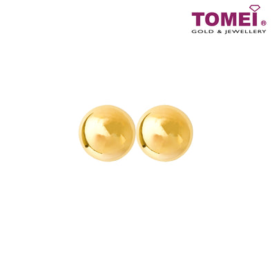 Dots of Love Stud Earrings | Tomei Yellow Gold 916 (22K) (X3NSE7908-1C)