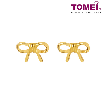 Tomei Yellow Gold 916 (22K) Gift of Love Earrings (9Q-ER1585-1C)
