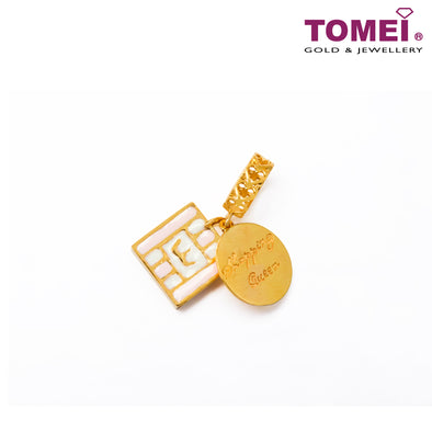 [Online Exclusive] Shopping Queens Chomel Charm | Tomei Yellow Gold 916 (22K) with Complimentary Peach Pink Bracelet (TM-ATL001-EC)