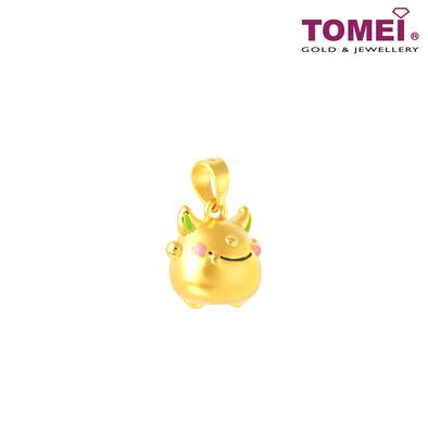 [Online Exclusive] Gold Alchemist Baby Monster Pendant | Tomei Yellow Gold 999 (24K) with Complimentary Rope Necklace (BTP-5D-EC-SZS)