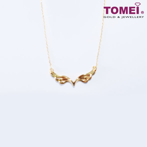 Wings of Love Necklace | Tomei Yellow Gold 999 (24K) (BTN-5D-002)