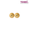 Round Hammered Stud Earrings | Tomei Yellow Gold 916 (22K) (XFUE0211-DC-1C)