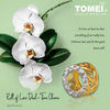 "Tomei Yellow Gold 916 (22K) ""Roll of Love"" Dual-Tone Charm (TM-PT124-2C)"