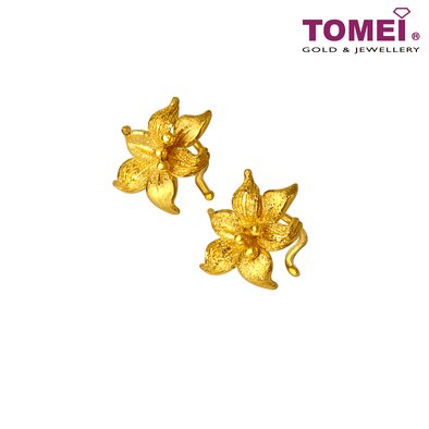 一花独秀 Earrings | Tomei Yellow Gold 999 (24K)