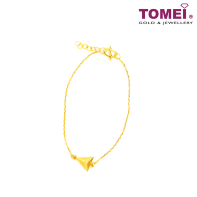Triangle Minimalist Bracelet | Tomei Yellow Gold 999 (24K) (BTM-5D-SET17)